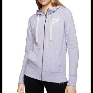 NWT! Nike vintage gym zip up hoodie lilac